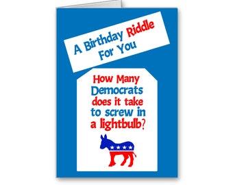 Political Birthday Card | Funny Birthday | Election 2020 | Politically Incorrect | Birthday Riddle