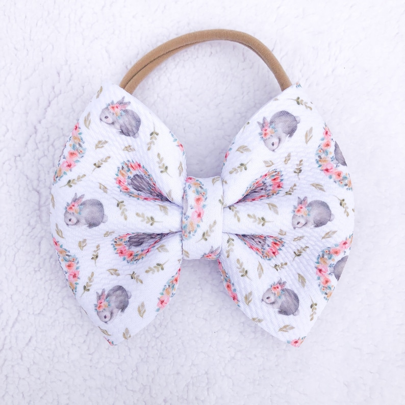 Easter Bows Little Bunny Puff Bows