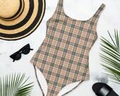 London Plaid One-Piece Swimsuit
