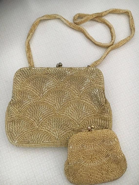 "Vintage 1950's ""Walborg"" beaded clutch purse"