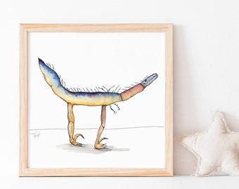 Velociraptor Dinosaur Pillow Case | Etsy