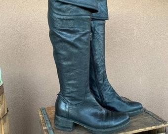 Alberto Fermani Tall Black Boots