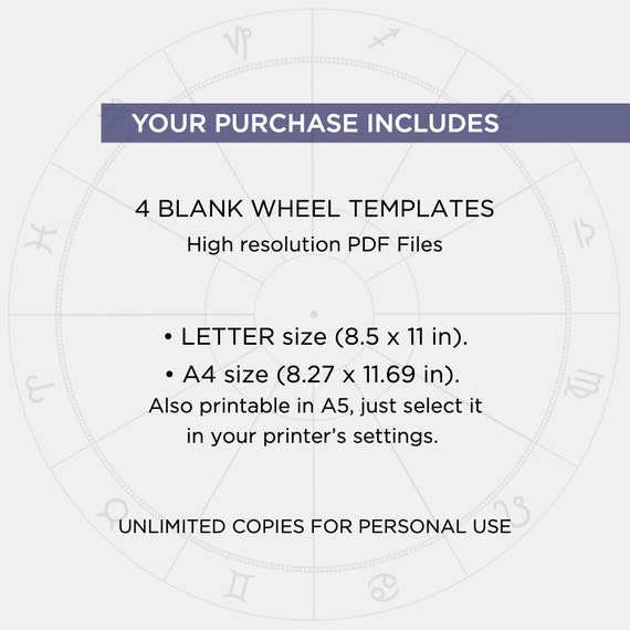 Blank Astrology Chart Wheel Printable Natal Chart Download Etsy