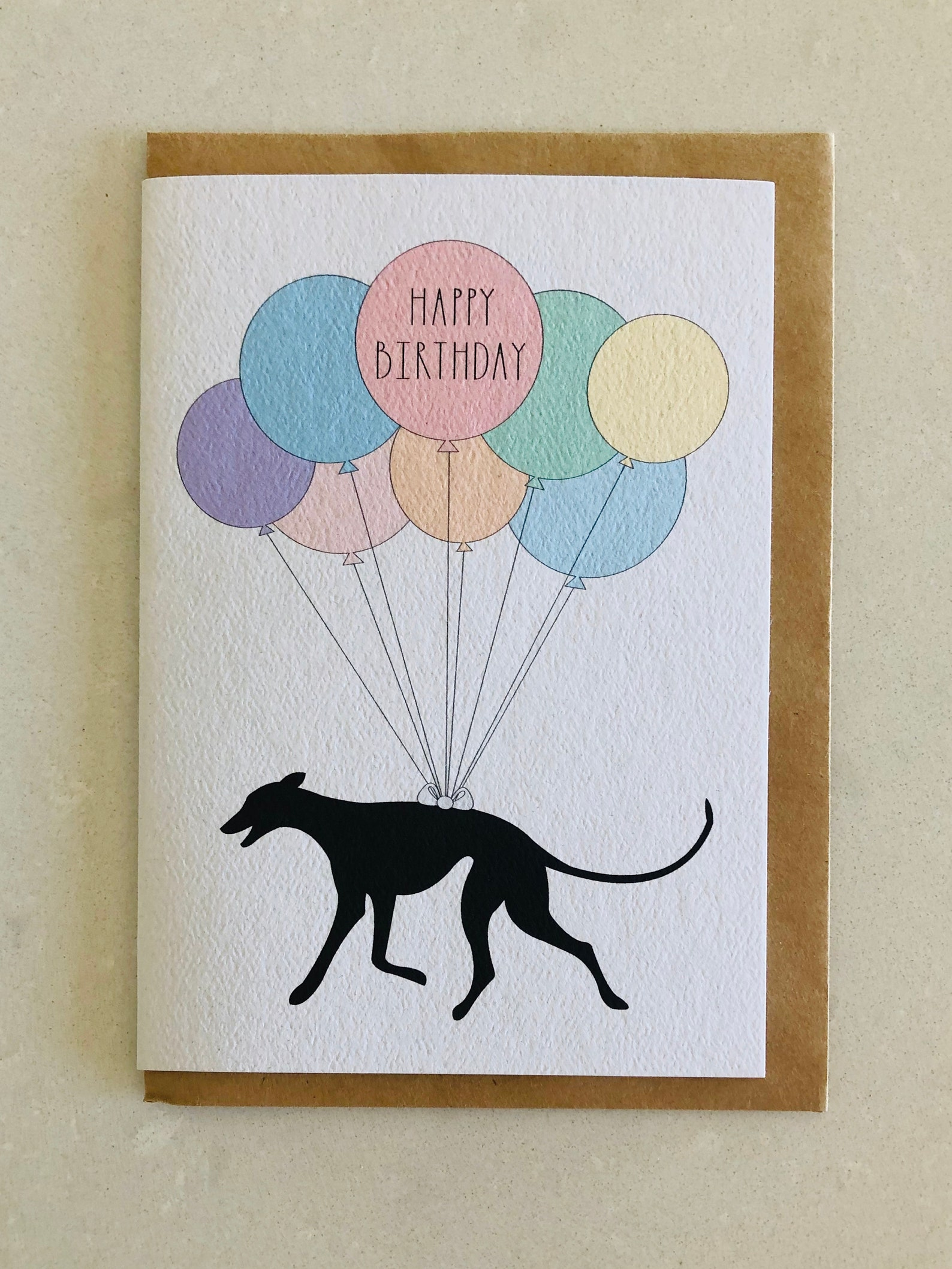 Greyhound Dog Birthday Card