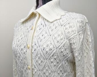 Vintage 1960/'s White Sweater Size 1012