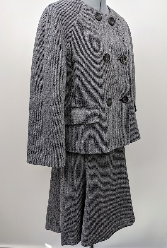 Vintage 1990s, Ann Taylor, Tweed Suit. Boxy, Doubl