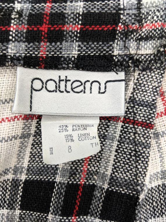 Vintage 1960s Patterns, Plaid Midi Skirt, Rayon B… - image 10