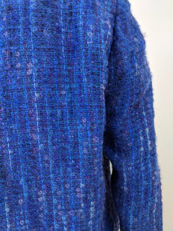 Vintage 1960s Kensington, Cropped Blue Boucle Twe… - image 7