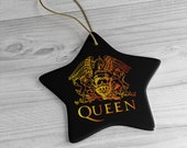 Queen Band Christmas Ornament, Queen Christmas Decoration, Freddie Mercury Tree Ornament, Vintage Queen