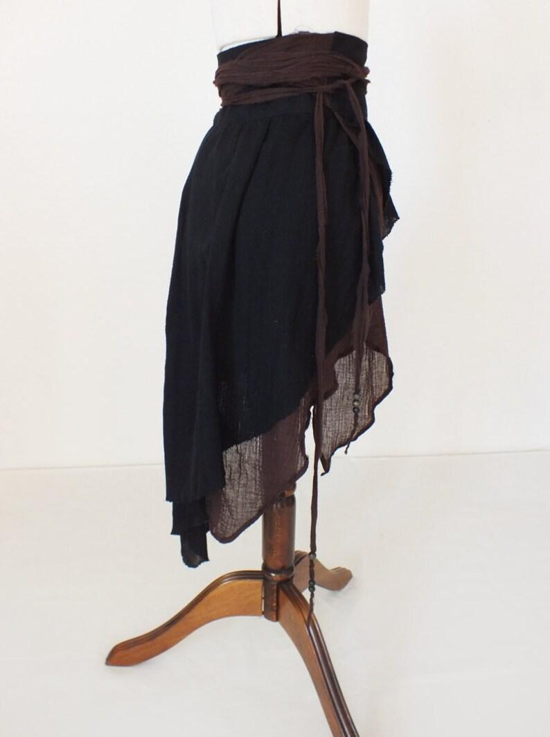 overskirt Wrap skirt with fringe ECHO