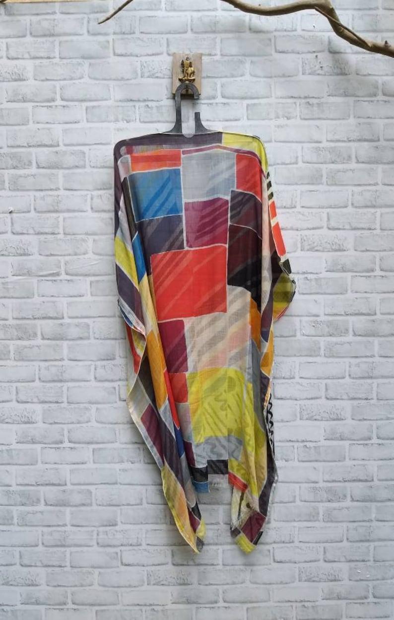 Casual poncho,plus size short caftan,free size poncho,modern poncho,loose kaftan,gift for women,100/% cotton top tunic
