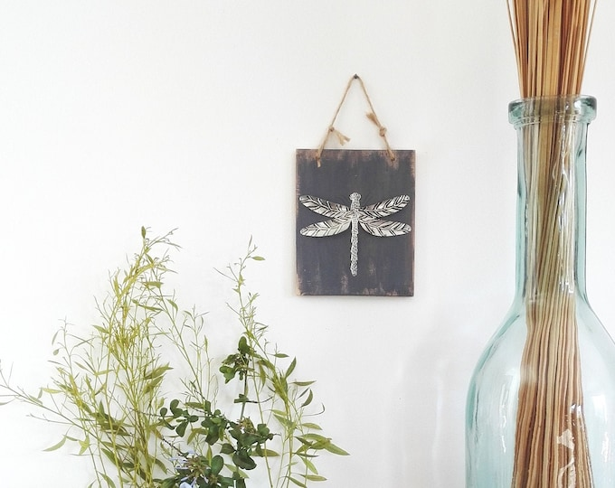 Mini Table Silver Dragonfly recycled metal
