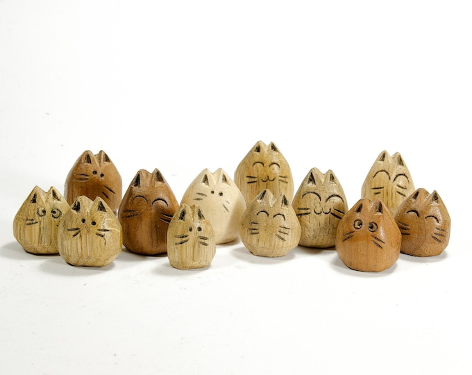 Orphan Kitten - Baby Wooden Cat