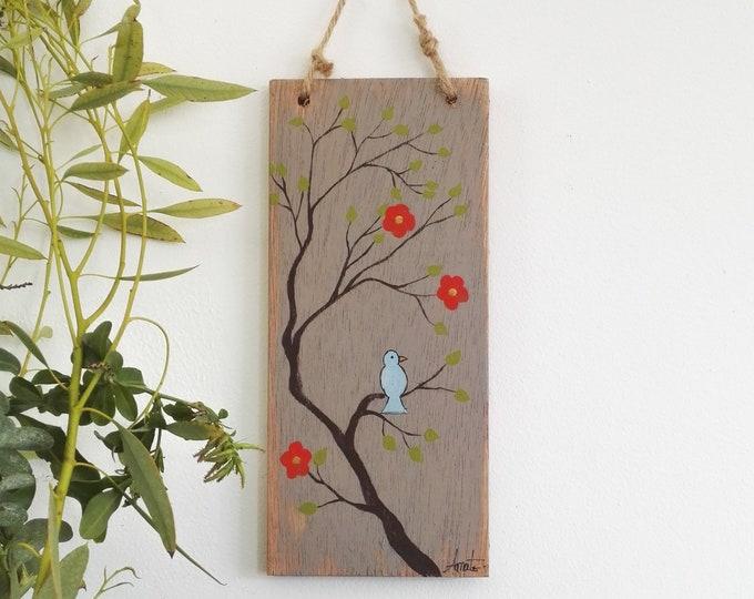 Mini painting poetic painting the blue bird