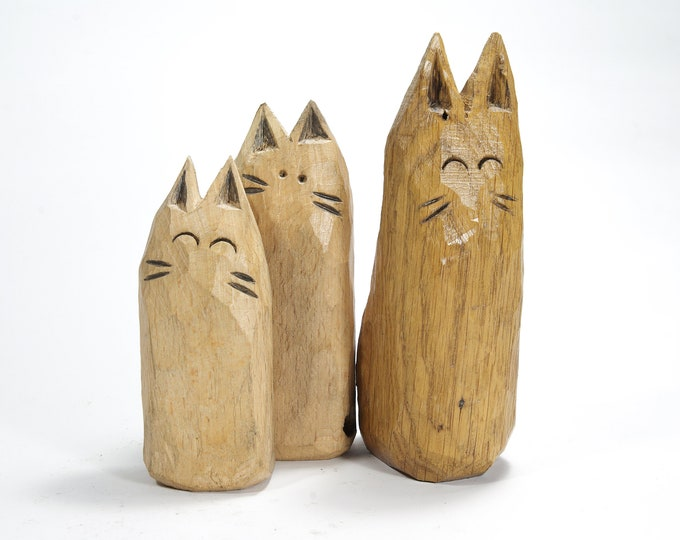 Cat Sock - Wooden Statuette