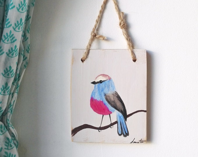 Small painting painting on wood sophie