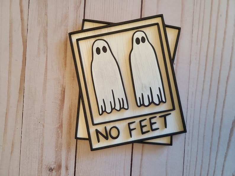 Ghost No Feet Craft Kit #2567 Multiple Sizes Available Unfinished Wood Cutout Shapes