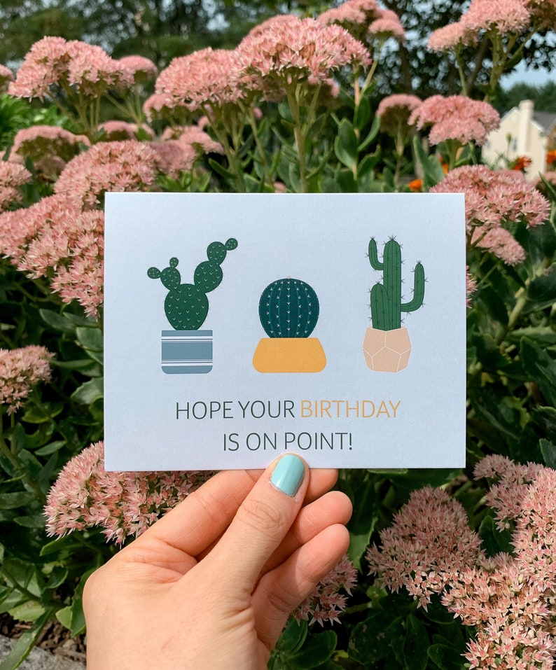 Hope Your Birthday is on Point Greeting Card  Illustration image 0