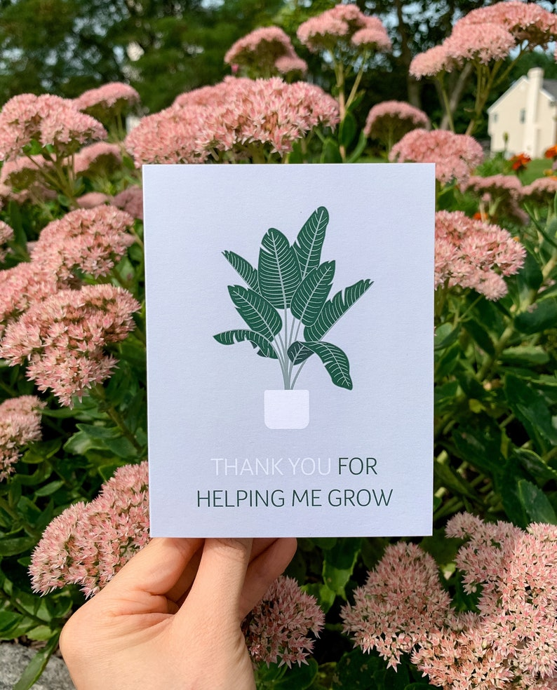 Thank you for Helping me Grow Greeting Card  Illustration image 0