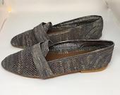 Grey Raffia Women Oxford summer shoes,woman ,espadrilles,raffia sandals,raffia slippers,boho slippers,Hand-Weaved nude Vegan sandal