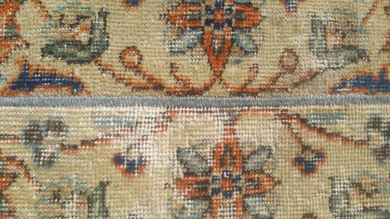 20x54 inches 52x138=71 cm SKU:4016 2x4 BEIGE Turkish rug,Vintage Rug,Oushak small rug,Handmade rug 1/'7x4/'5 feet Doormat rug