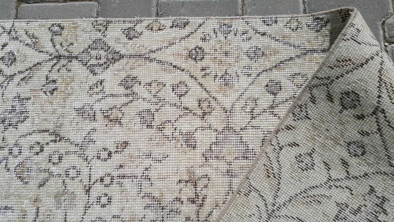 3x6 BEIGE Oushak rug,Vintage Rug,Turkish Area rug,Handmade rug Anatolian rug 96x184=176 cm SKU:3117 3/'1x6/'0 feet 37x72 inches