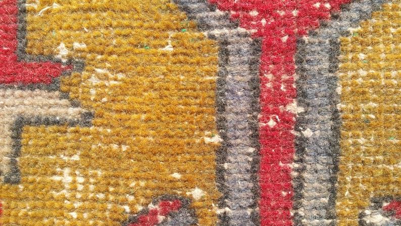 2x4 RED Turkish rug,Vintage Rug,Oushak small rug,Handmade rug 55x121=66 cm SKU:4055 21x47 inches 1/'8x3/'9 feet Doormat rug