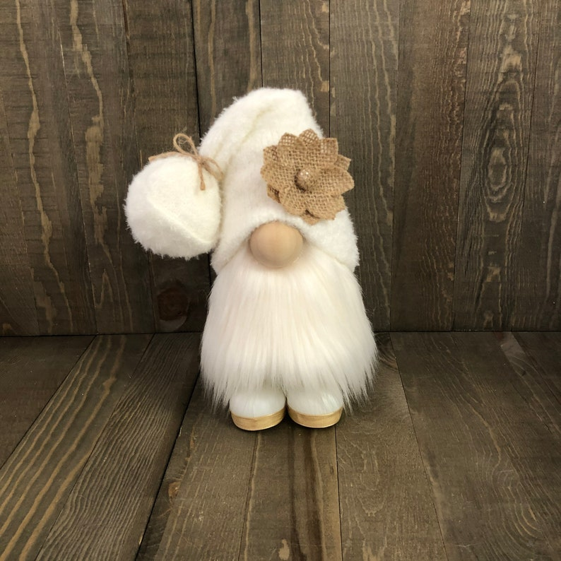 Rustic Gnome Farmhouse Gnome Cream Gnome image 0