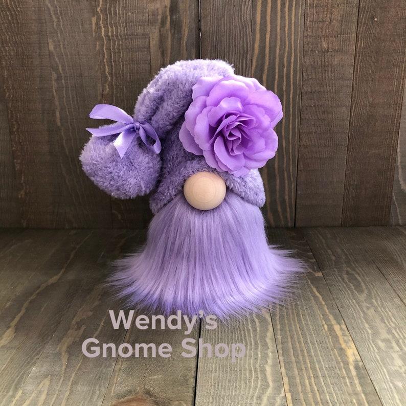 Purple Flower Gnome Valentines Gnome home decor Tiered Tray image 0