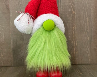 Grinch Gnome, Christmas Gnome, Holiday Gnome
