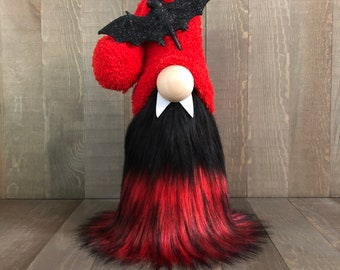 Vampire Gnome, Halloween Gnome, Dracula Gnome, Fall Gnome
