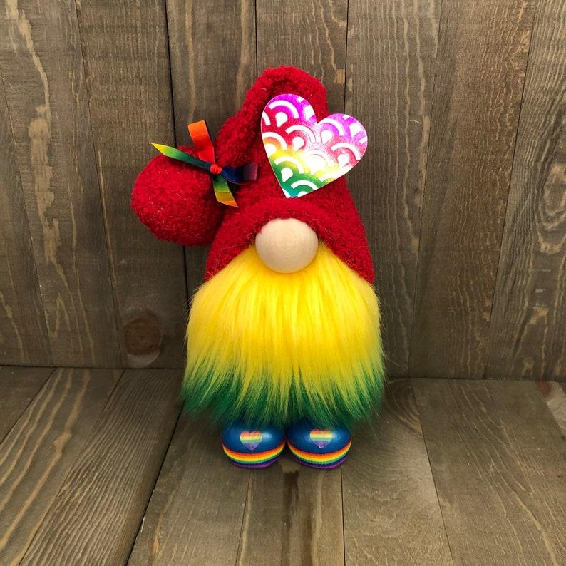 Pride Gnome LBGTQ Gnome Rainbow Gnome image 0