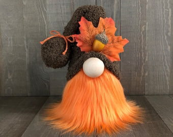 Fall Leaf Gnome, Tiered Tray Gnome