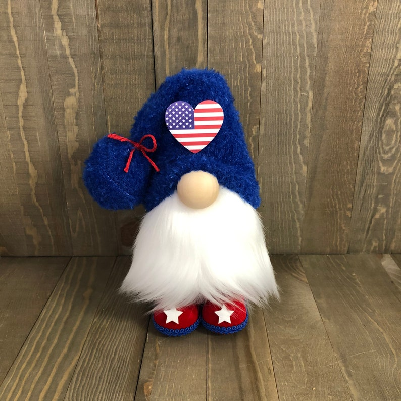 Patriotic Gnome Fourth of July Gnome Flag Gnome July 4 image 0
