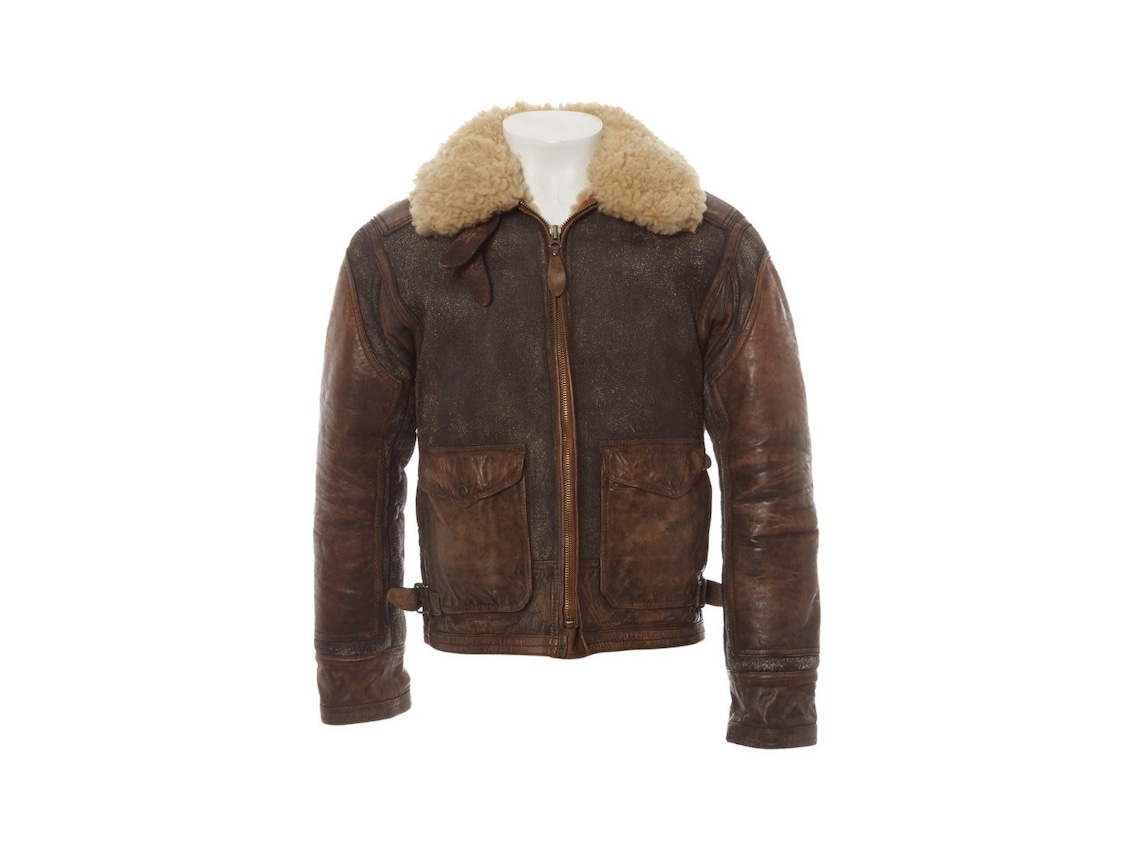 Vintage Wax Distressed Look Brown Leather Jacket Mens, Genuine - Real Fur Winter Coat / Xs-5x & Customisation