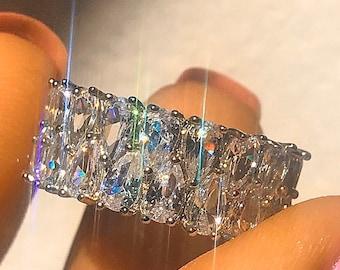 Double stack diamond ring