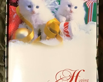 Vintage Christmas Cards Cat Boxed Etsy