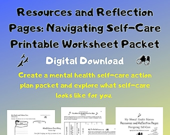 Self-Care Printable Worksheets/Therapist aid/Printable Downloads/Activity/Mental Health Aid