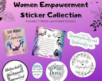 Sticker Collection/ Women Empowerment/Laptop Stickers/Reminder Stickers/Empowerment Stickers/Quote Stickers