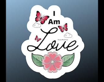 Affirmation Stickers/Motivationa Sticker/I am Love Sticker/Notebook Stickers/Laptop Sticker/Matte Sticker/Mental Health Gift
