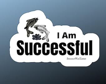 Affirmation Stickers/Motivationa Sticker/I am Successful Sticker/Notebook Stickers/Laptop Sticker/Matte Sticker/Mental Health Gift