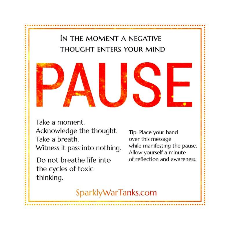 Laptop Stickers/Reminder Stickers/Pause Mindfulness Matte image 0