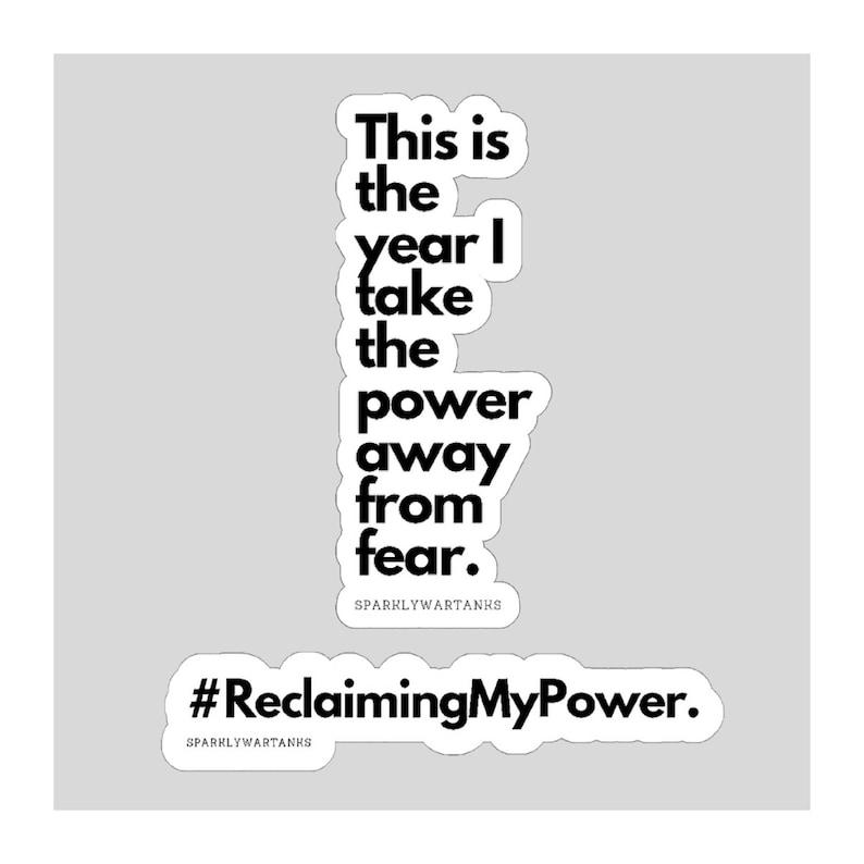 Notebook Sticker/Motivational Sticker/Reclaiming My Power image 0