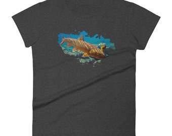 Bull Trout Women's short sleeve t-shirt, Mother's Day gift idea, Gift for Girlfriend, Gift for mom,  Birthday gift idea, fishing shirt