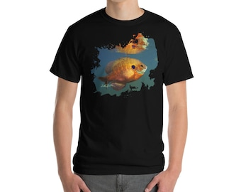 Blue Gill Short Sleeve T-Shirt, Fishing Gifts For Men, Fishing Shirt, Fisherman, hunting and fishing, fathers day gift, mens gift ideas