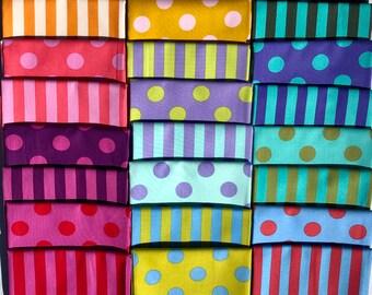 Tula Pink Poms /& Stripes Fat Quarter Bundle 24 18 x 22 Fat Quarters by Tula Pink for Free Spirit Fabrics 100/% Cotton #TPPOMS N STRIPESFQ