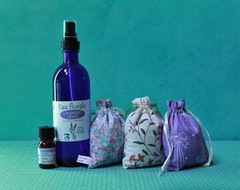 Lavender real essential oil + floral water + sachets