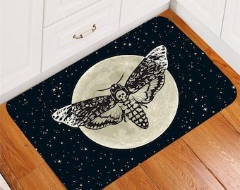 Retro Gothic Skull Killer Non-Slip Home Decor Bathroom Carpet Door Mat Rug