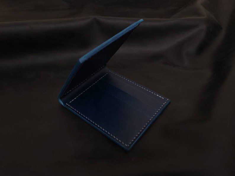 Blue Buttero full leather bifold