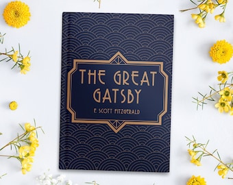 The Great Gatsby Inspired Hardcover Journal / Gift for Book Lovers / Literary Gift / F. Scott Fitzgerald